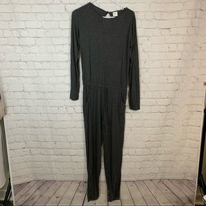 ZYIA ACTIVE gray athleisure jumpsuit size small new with tags